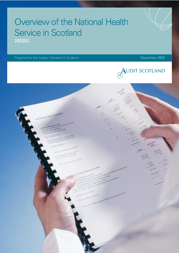 Report cover: Overview of the National Health Service in Scotland 2002/03