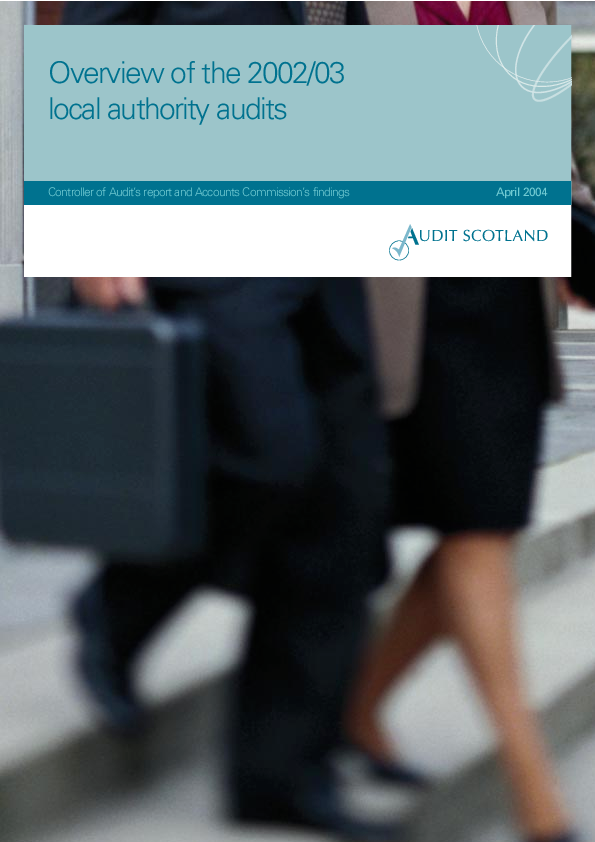 Report cover: Overview of the 2002/03 local authority audits