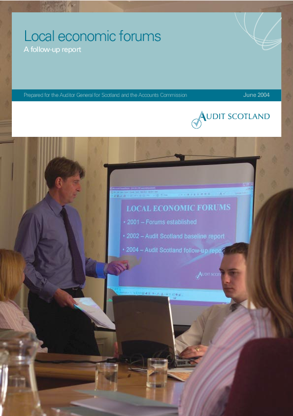 Report cover: Local economic forums: a follow-up report