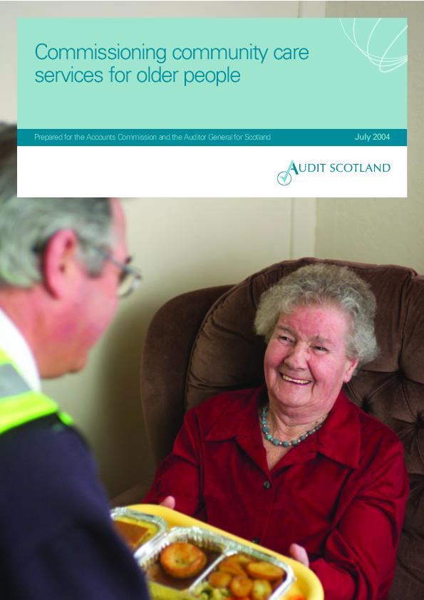 Report cover: Commissioning community care services for older people