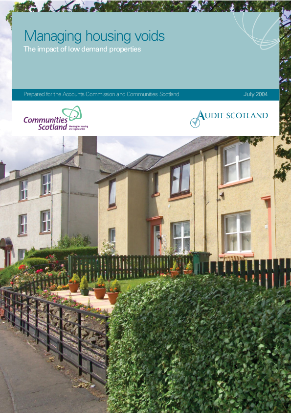 Report cover: Managing housing voids: The impact of low demand properties