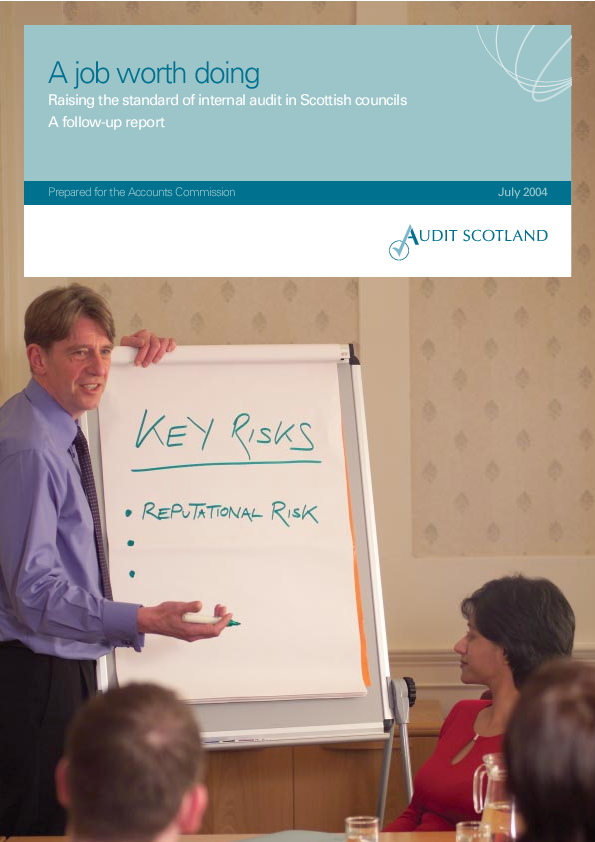 Report cover: A job worth doing: Raising the standard of internal audit in Scottish councils - a follow-up report