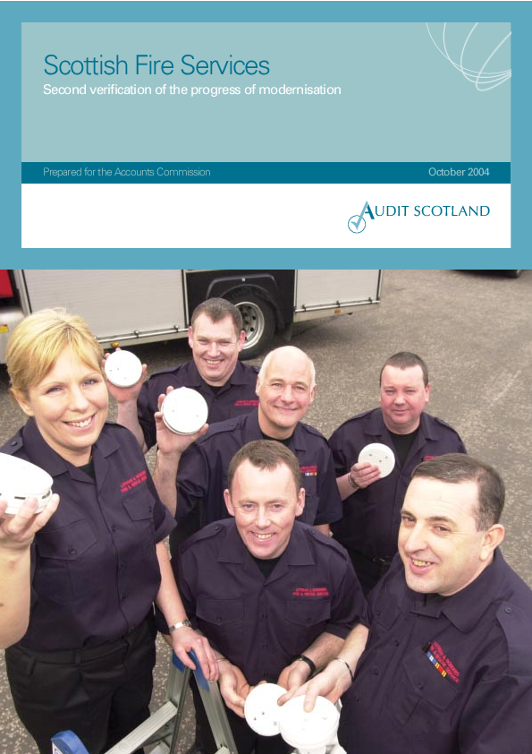 Report cover: Scottish Fire Services: Second verification of the progress of modernisation