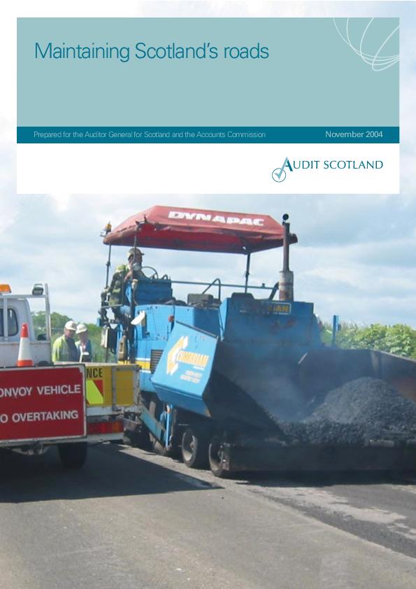 Report cover: Maintaining Scotland's roads 2004