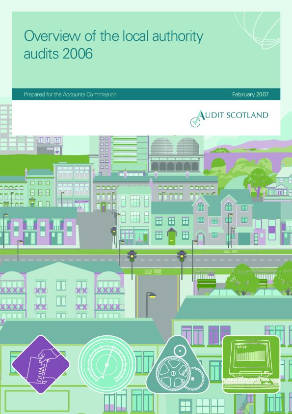 Report cover: Overview of the local authority audits 2006