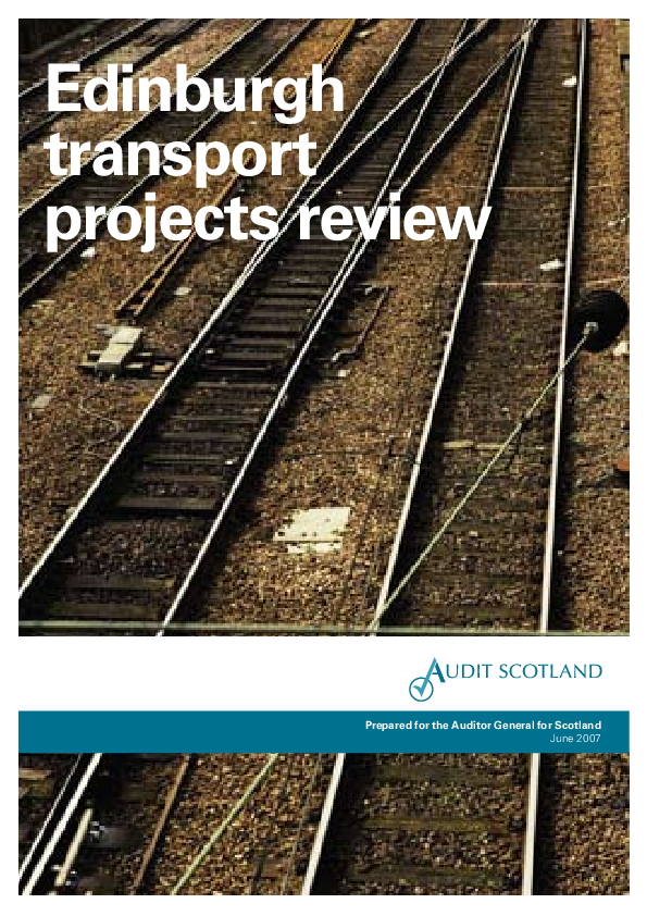 Edinburgh transport projects review