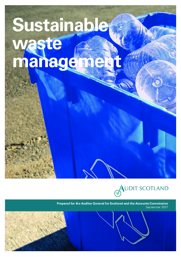 Report cover: Sustainable waste management