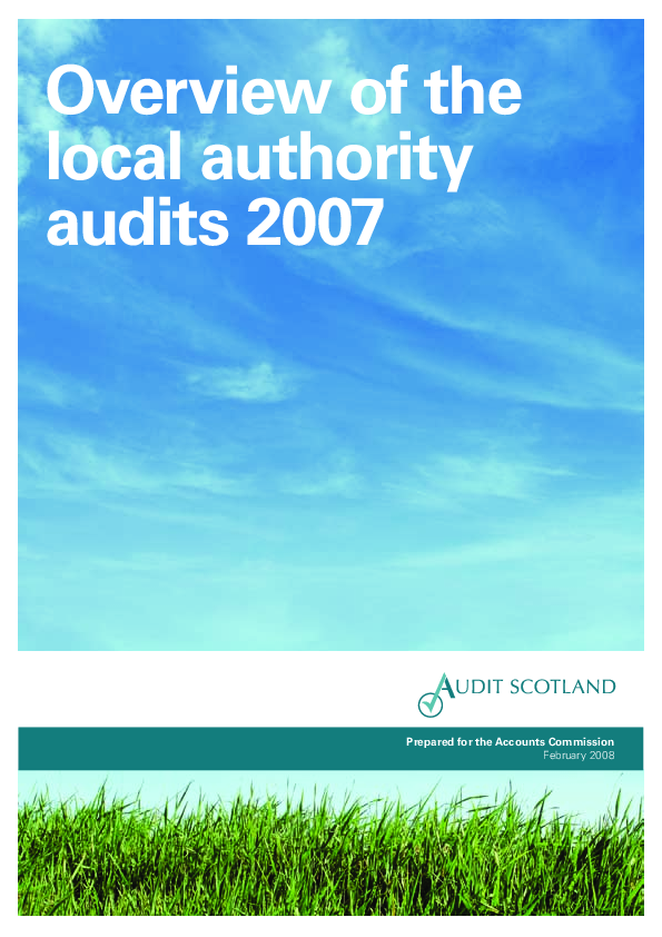 Report cover: Overview of the local authority audits 2007