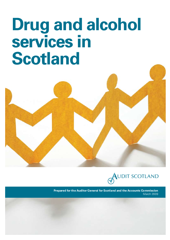 Report cover: Drug and alcohol services in Scotland