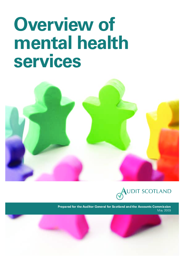 Report cover: Overview of mental health services
