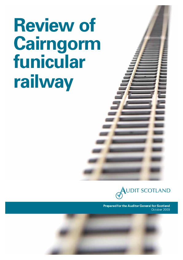 Report cover: Review of Cairngorm funicular railway