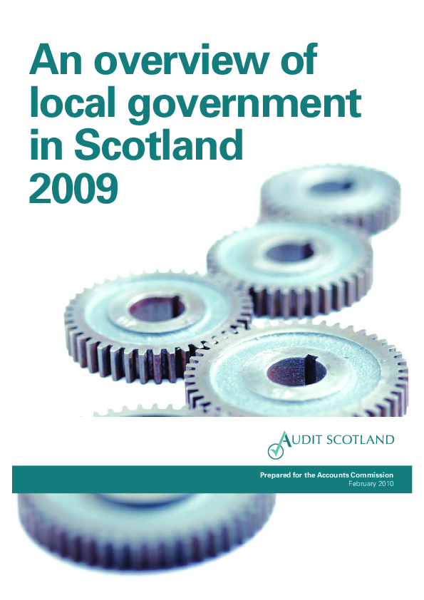 Report cover: An overview of local government in Scotland 2009