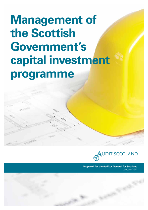 Management of Scottish Government's capital investment programme