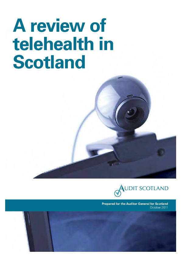 Report cover: A review of telehealth in Scotland
