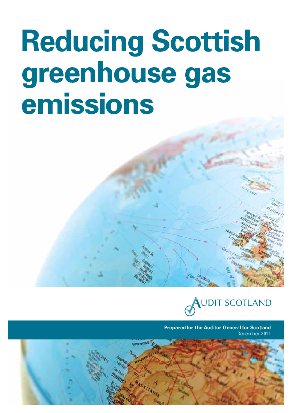 Report cover: Reducing greenhouse gas emissions