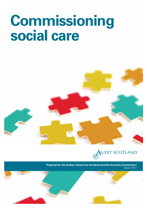 Report cover: Commissioning social care