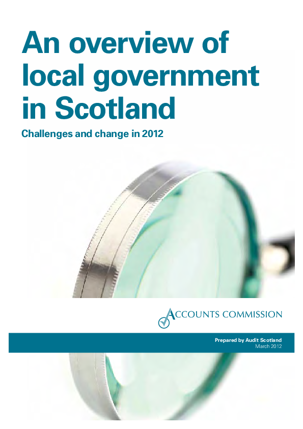 Report cover: An overview of local government in Scotland - Challenges and change in 2012