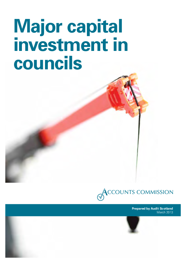 Report cover: Major capital investment in councils