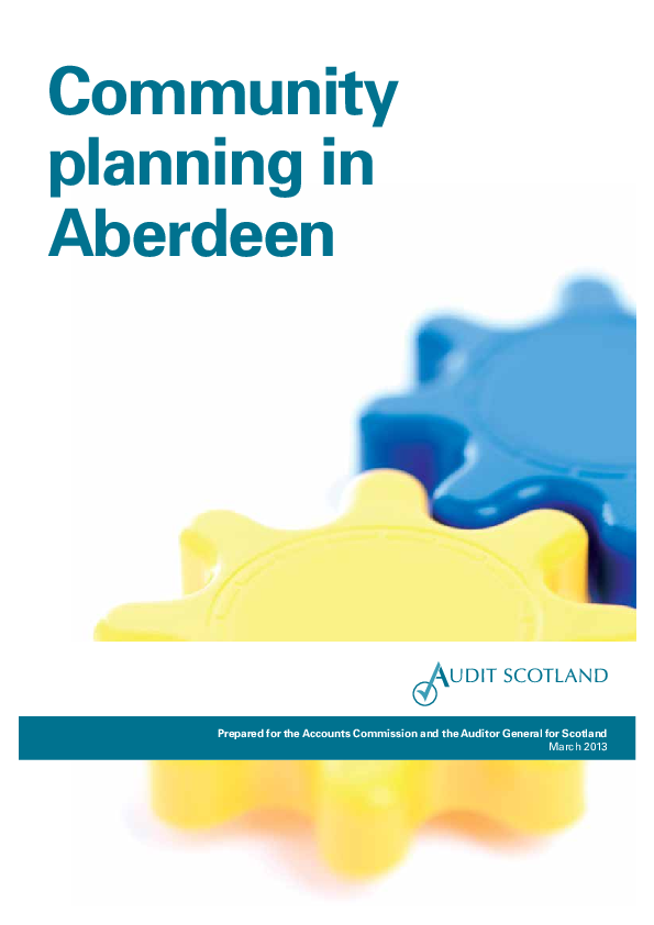 Report cover: Community planning in Aberdeen