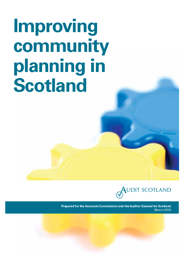 Report cover: Improving community planning in Scotland