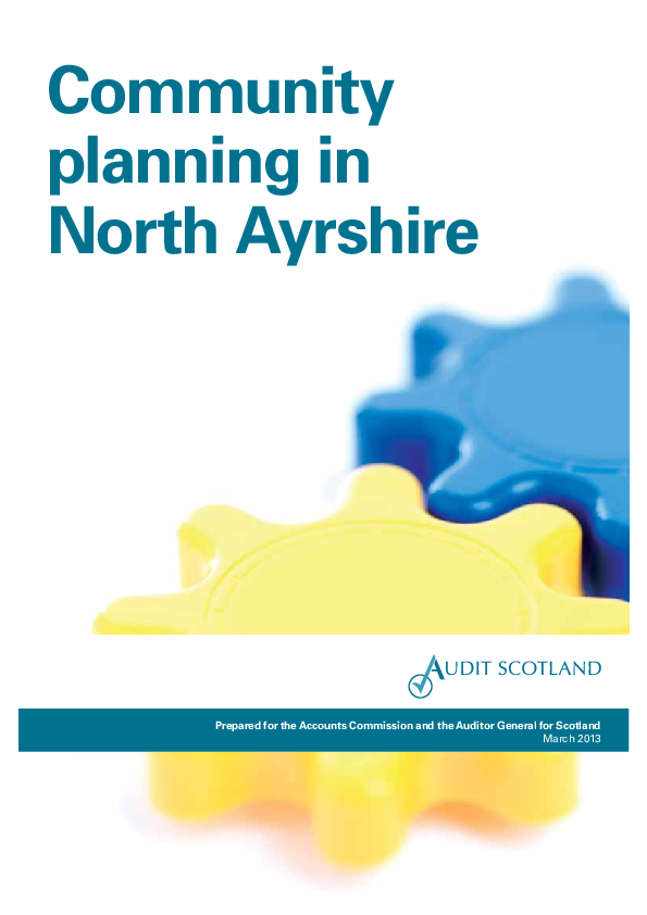 Report cover: Community planning in North Ayrshire