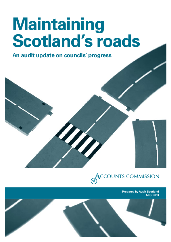 Report cover: Maintaining Scotland's roads