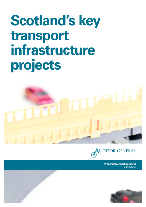 Report cover: Scotland's key transport infrastructure projects