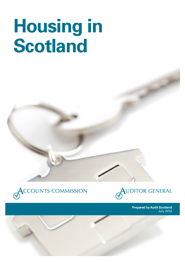 Report cover: Housing in Scotland