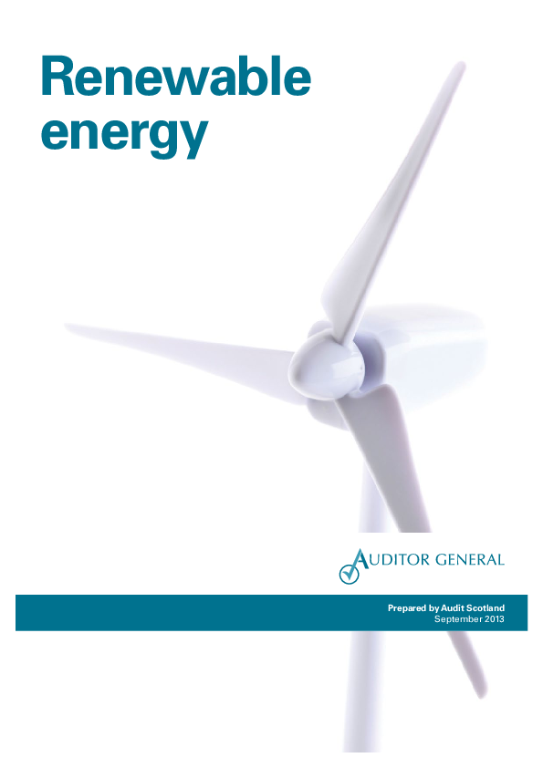 Report cover: Renewable energy