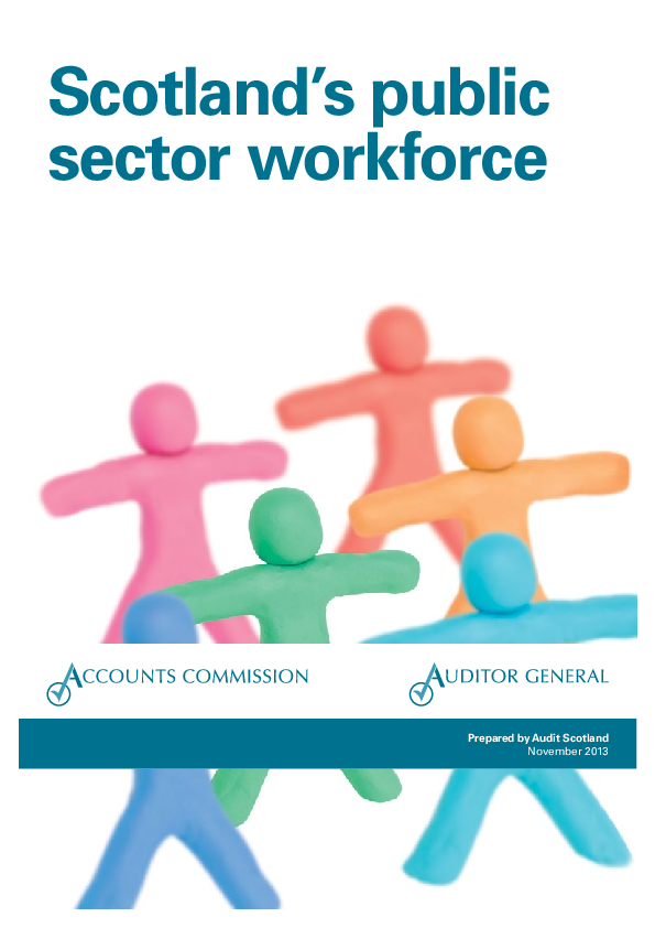 Report cover: Scotland's public sector workforce
