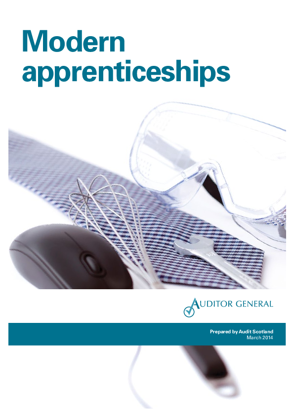 Report cover: Modern apprenticeships