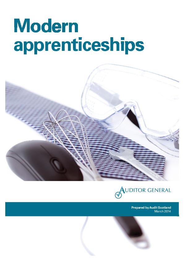 Report cover: Modern apprenticeships