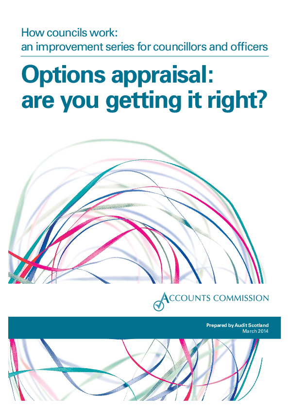 Report cover: How councils work: an improvement series for councillors and officers - Options appraisal: are you getting it right?