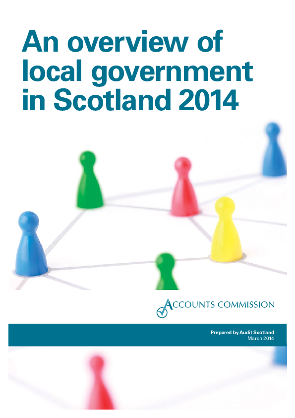 Report cover: An overview of local government in Scotland 2014