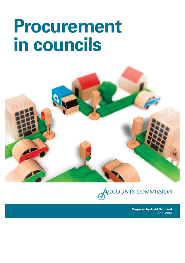 Report cover: Procurement in councils