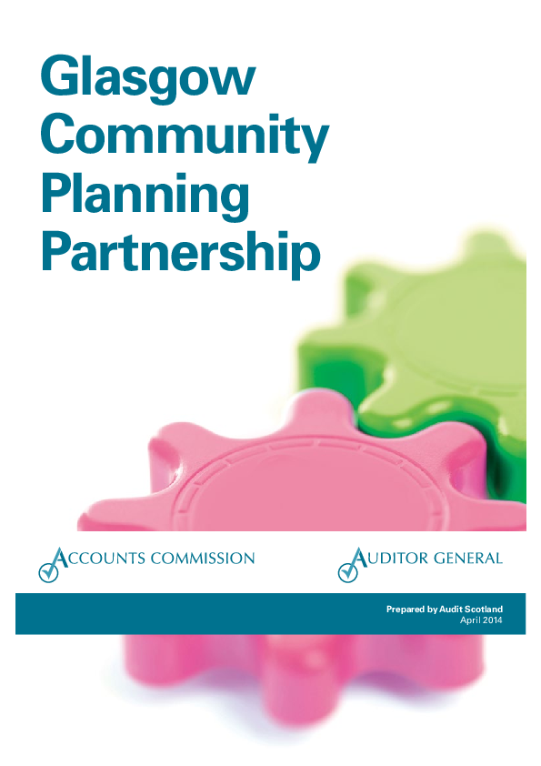 Report cover: Glasgow Community Planning Partnership