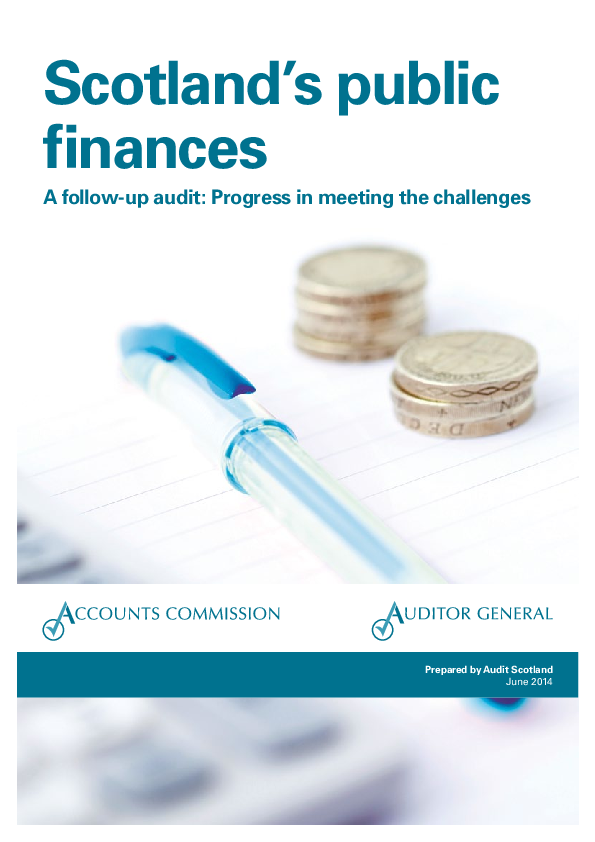 Report cover: Scotland's public finances - a follow-up audit: Progress in meeting the challenges