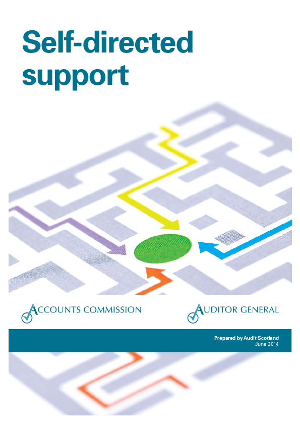 Report cover: Self-directed support