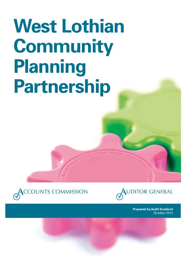 Report cover: West Lothian Community Planning Partnership
