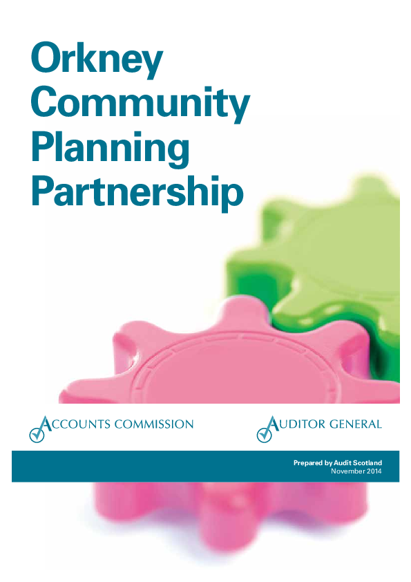Report cover: Orkney Community Planning Partnership