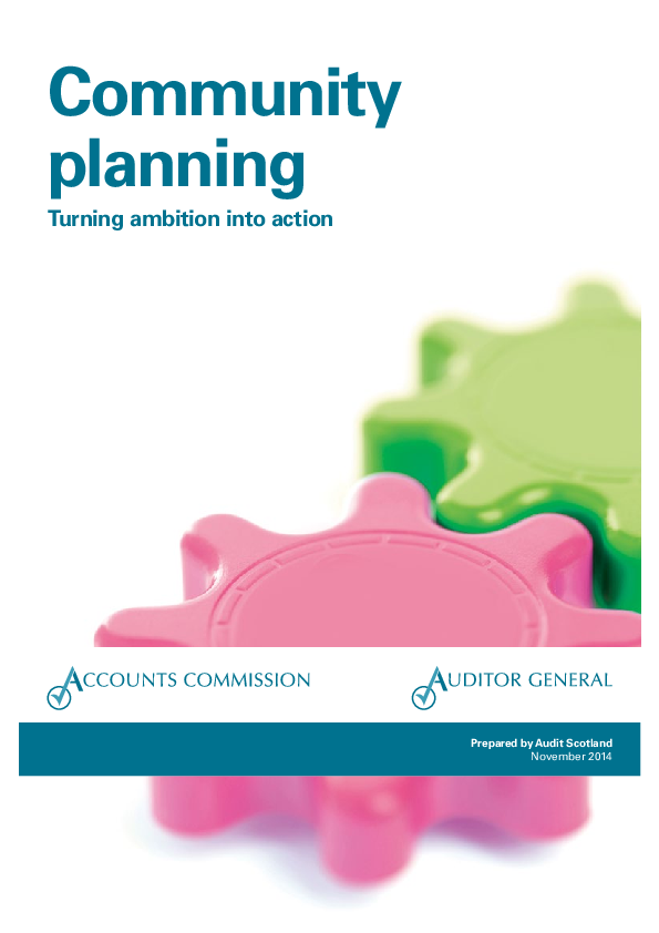 Report cover: Community planning: Turning ambition into action