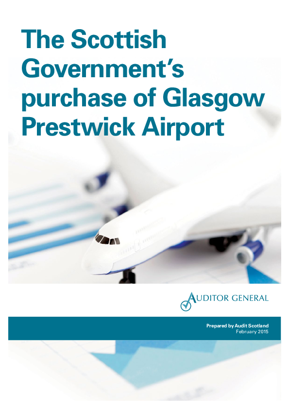 Report cover: The Scottish Government's purchase of Glasgow Prestwick Airport