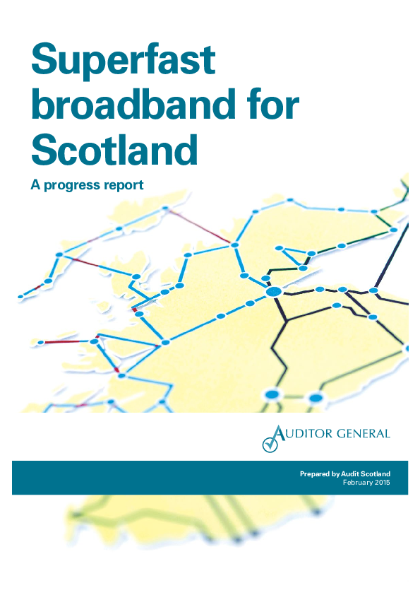 Report cover: Superfast broadband for Scotland: a progress report