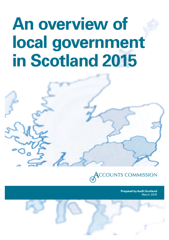 Report cover: An overview of local government in Scotland 2015