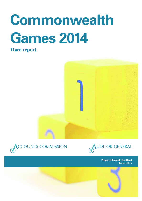 Report cover: Commonwealth Games 2014: third report