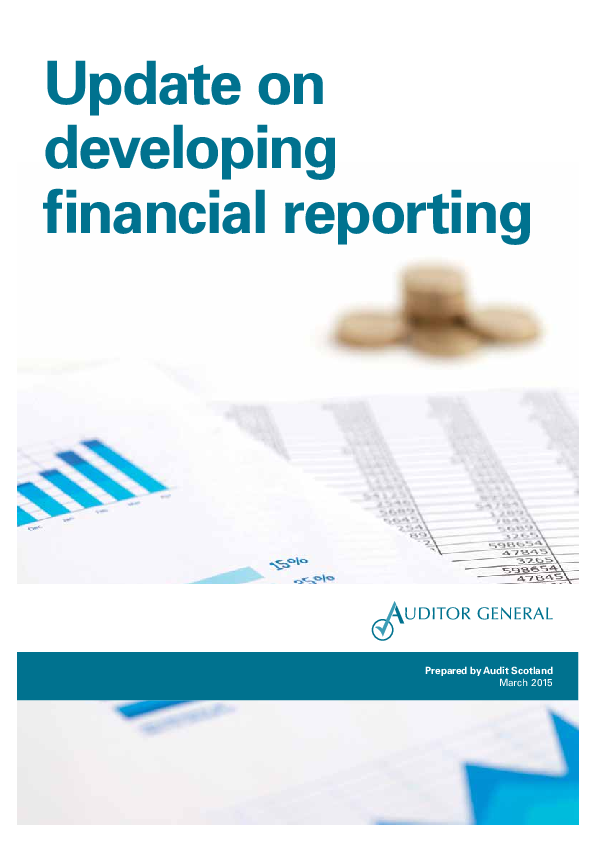 Report cover: Update on developing financial reporting