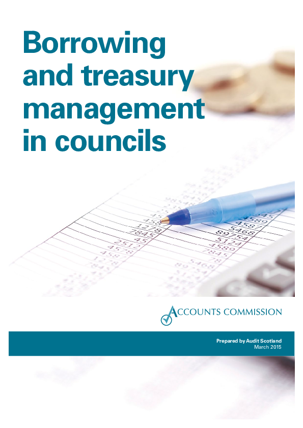 Report cover: Borrowing and treasury management in councils