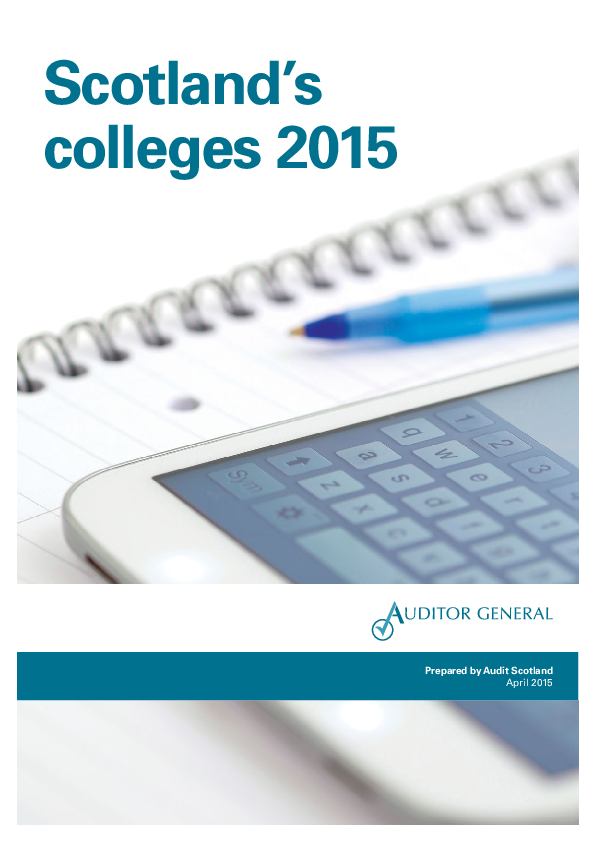 Report cover: Scotland's colleges 2015