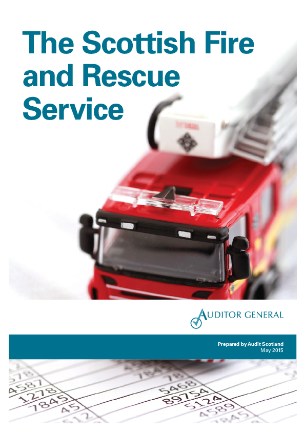Report cover: The Scottish Fire and Rescue Service