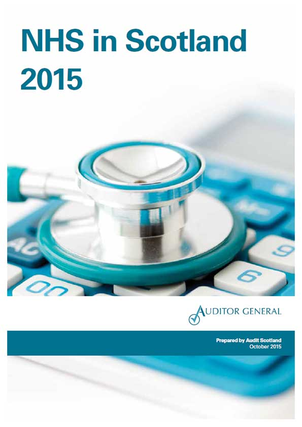 Report cover: NHS in Scotland 2015